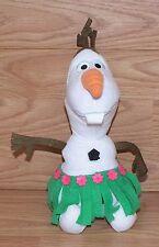 "Genuine Disney Grass Skirt / Hula 9"" (inch) Stuffed / Plush Olaf Toy **READ**"