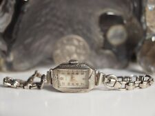 DUNKLINGS SWISS MADE LADIES WATCH WITH HANDLEY SOLID 9CT GOLD BAND / WORKING !
