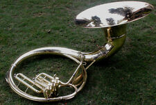"Qlty Sousaphone Shinning Brass 20"" Bell Bb ""Chopra"" 3V  BAG n M/PIECE 130116"