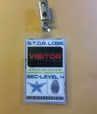 Flash/Arrow ID Badge - S.T.A.R. Labs Bio - Visitor cosplay prop costume
