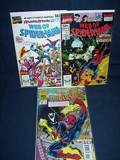 Web of Spider-Man Annual #5, #6 and #10 Marvel Comics with Bag and Board
