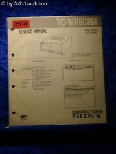 Sony Service Manual TC WR808M Cassette Deck (#2534)