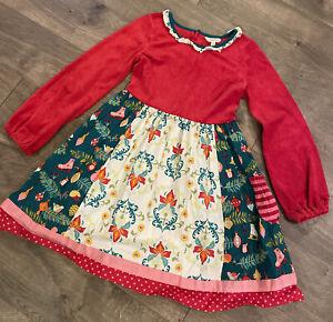 Matilda Jane Girls Christmas Dress Size 12 Red Holiday