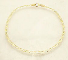 "2.3mm 8"" Mariner Anchor Gucci Link Chain Bracelet Real Solid 10K Yellow Gold"