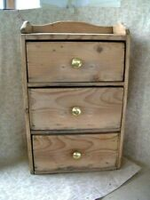 VINTAGE SET OF PINE TABLE TOP CHEST OF DRAWERS