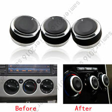 3pcs Black Air Condition Panel Control Switch Knob Covers For Ford Focus 05-2013