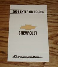2004 Chevrolet Impala Exterior Interior Colors Foldout Sales Brochure 04 Chevy