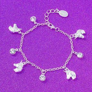 emoji® Unicorn Crystal Charm Bracelet