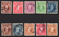 New Zealand 10 Stamps c1909-16 Used (6476)