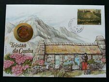 Tristan da Cunha Mountain Nature Life 1991 House Family Flower (coin cover)