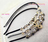 Women Lady Girls Crystal Rhinestone Bling Crown Party hair band headband Hoop