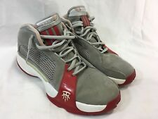 VINTAGE RARE ADIDAS TRACY MCGRADY Mens 11.5 BASKETBALL Sneakers Shoes GRAY RED