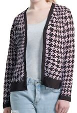 Houndstooth Women Thin Jersey Button Cardigan Coat Outwear b44 acb03314