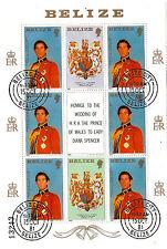 BELIZE 1981  Le prince Charles en tenue d'apparat  # 552  AX-C36