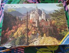 VTG 1980 Ravensburger Puzzle Neuschwanstein Castle Bavaria 3000 piece puzzle