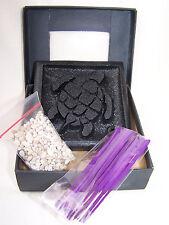 Räucherstäbchenhalter aus Stein Motiv Schildkröte in schwarz mit Zubehör