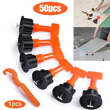 50 Reusable Tile Leveling System Anti-Lippage Positioning T-Lock Locator Spacers