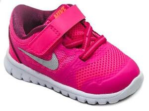 Nike Non-Tie Sneakers Pink Pow/Silver/Bright Citrus Little Girls Size 7