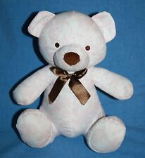 "Kidsline TEDDY BEAR 9"" Pink Brown White Floral Fabric Soft Baby Plush Stuffed"