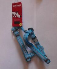 RED DINGO REFLECTIVE ZIGGY TURQUOISE HARNESS (EXTRA SMALL)