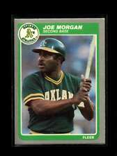 1985 FLEER #431 JOE MORGAN EXMT ATHLETICS HOF