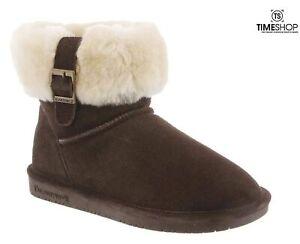 BEARPAW Womens Abby Snow Boot Brown - Size 6 - 1257W-205-M060 - Damaged Box