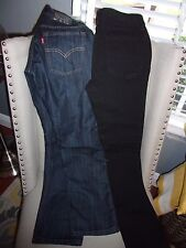 BOYS LEVI'S JEANS AND VANS BLACK JEANS SIZE 12