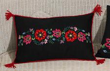 Permin  83-2961  Coussin  Fleurs sur noir  Broderie  traditionnelle