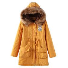 NEW Women's Warm Long Coat Fur Collar Hooded Jacket Slim Winter Parka Outwear GW
