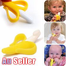 1pc Silicone Banana Safe Portable Baby Molar Teether Teething Toothbrush