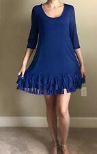 Beautiful Stylish Authentic Blue DECA PARIS Taille 3 DRESS MANIAC orig.$365
