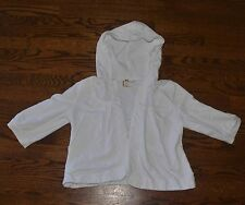 ROXY JUNIOR WOMEN'S SIZE S WHITE SUMMER JACKET COVER UP HOODIE LACE COLLAR
