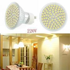 5W 60 SMD LED GU10 Beleuchte Lampe Weiß mit Glasabdeckung Energie-Einsparung