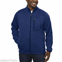 NWT Avalanche® Men's Full Zip Thermal Fleece Jacket-Mariner Blue Size Medium M