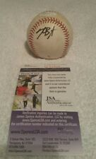 Kris Bryant autograph signed game used practice OML baseball with JSA COA