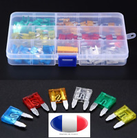 COFFRET BOITE 120 MINI FUSIBLES auto moto scooter car Fuse Box Assortment 5A 10A