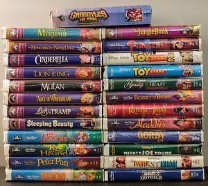 Walt Disney Lot 25 VHS Videos Black Diamond Classics/Masterpiece See PICTS!