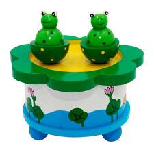 Mechanische Spieluhr, B-Ware, mit abnehmbaren, tanzenden Figuren Frösche