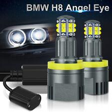 40W H8 LED Angel Eyes Halo Ring Lights Bulb 6000K For BMW E92 E93 E63 E70 X5 X6