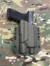 OD Green Kydex Holster for Glock 17 22 Threaded Barrel Surefire X300 Ultra A