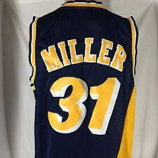 Adidas Reggie Miller Indiana Pacers Swingman Jersey L NBA Hardwood Classic Sewn