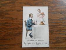 Rare W&F Faulkner Nautical Terms CIGARETTE CARD 1900 Prepare to Board