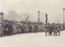 Paris Obsèques du général Berthelot Vintage argentque 1931