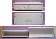 Barbie Susy Goose Plastic Hope Chest W/ Pull-Out Drawer White