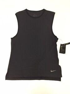 Nike Dri-Fit (Men's Size S) Transcend Athletic Training Slim Fit Tank Top Gray