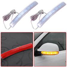 2x Universal Yellow Car Auto Side Mirror Amber Indicator Soft Turn Signal Light