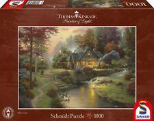 Schmidt Spiele 58464 Puzzle Thomas Kinkade Friedliche Abendstimmung 1000 Teile