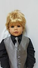 "NWT Exclusive Masterpiece Doll Julian Blonde Monika Peter-Leicht 32"" All Vinyl"