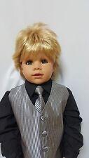 "NWT Exclusive Masterpiece Doll Julian Blonde Monika Peter-Leicht 32"" All Vinyl"