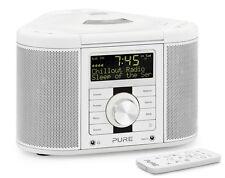 Pure chronos cd series 2 dab/fm/cd stéréo radio-réveil blanc avec télécommande